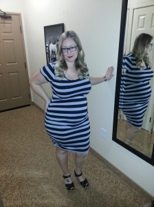 24 Weeks and lovin' my Old Navy dress-much cheaper than most maternity wear!