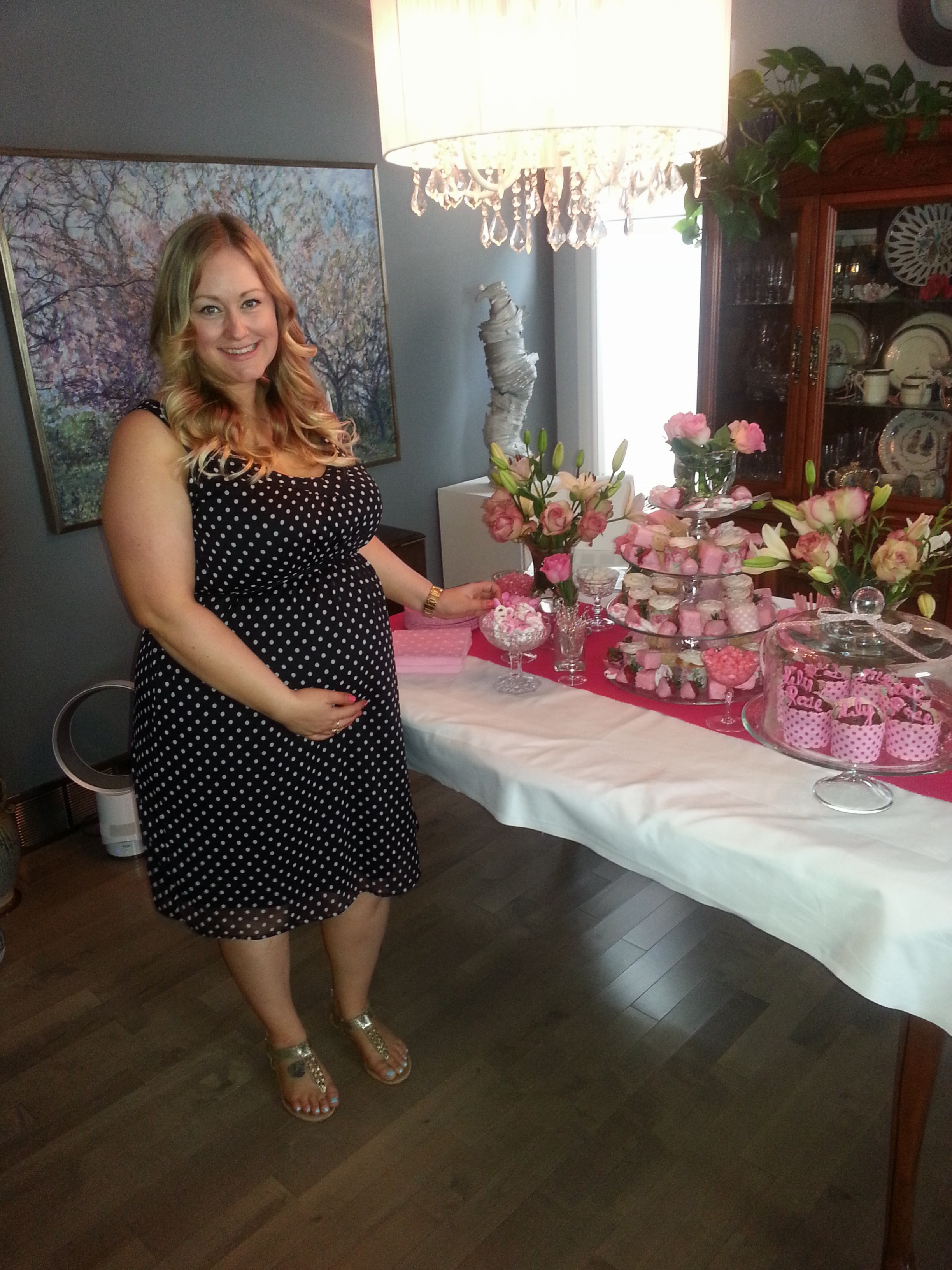 Embracing the shape love takes how sweet it is 30 weeks and so happy to be at my beautiful baby shower wearing my favourite pattern ombrellifo Images