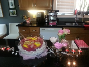 The gorgeous decor and delicious pink punch;)