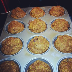 Pumpkin Muffins with Walnut and Cranberry
