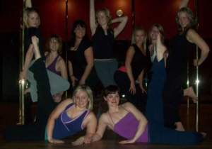 One of our 1st Splurge events-Pole dancing class;)